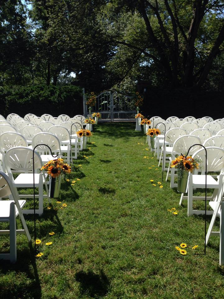 Garden Ceremony with Sun Flowers