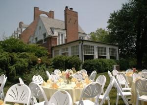 Tables in Back Garden