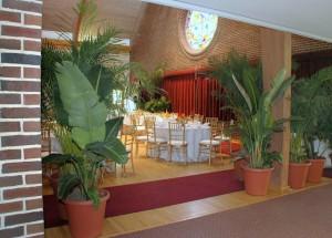 Entrance Hall and Church Interior